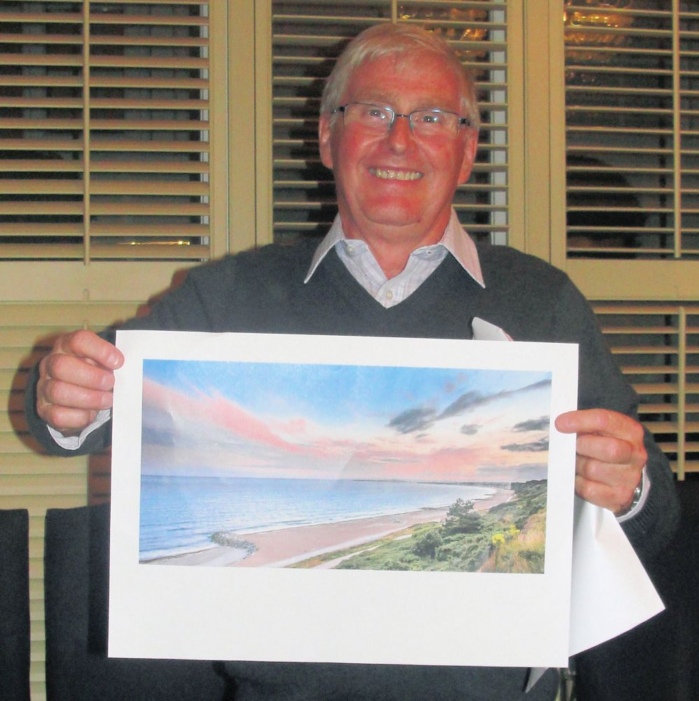 Frank Leavesley with his winning photograph
