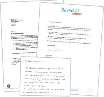Picture of testimonial letters