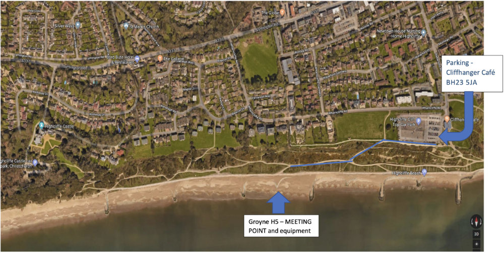 Map of beach clean